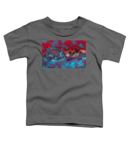 Abstract Colorful Snow Day Toddler T-Shirt