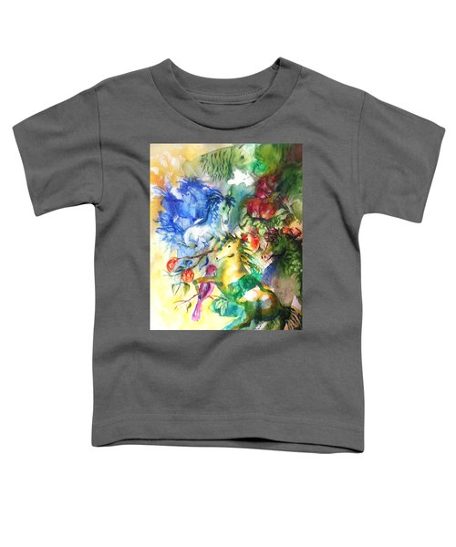 Abstract Horses Toddler T-Shirt
