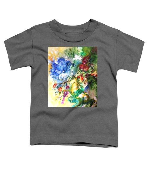 Abstract Horses Toddler T-Shirt