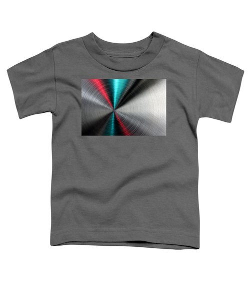 Abstract Metallic Texture With Blue And Red Ray Pattern. Toddler T-Shirt