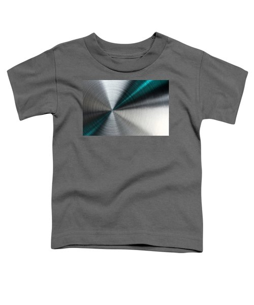 Abstract Metallic Texture With Blue Rays. Toddler T-Shirt