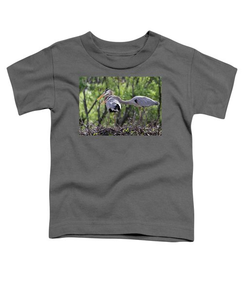 Affectionate Great Blue Heron Mates Toddler T-Shirt