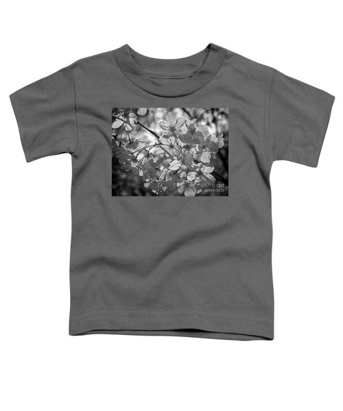 Akebono In Monochrome Toddler T-Shirt by Peggy Hughes