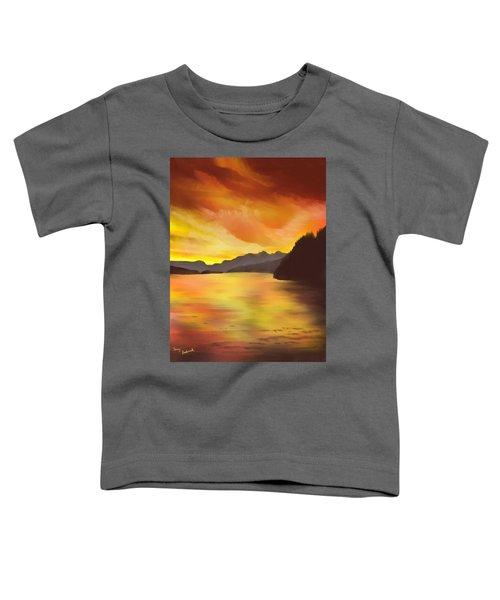 Alaska Sunset Toddler T-Shirt