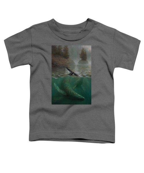 Humpback Whales - Underwater Marine - Coastal Alaska Scenery Toddler T-Shirt
