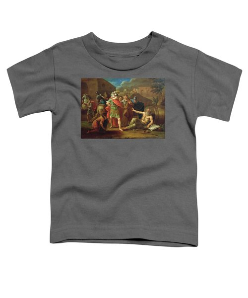 Alexander The Great Visits Diogenes At Corinth, 1787 Oil On Canvas Toddler T-Shirt