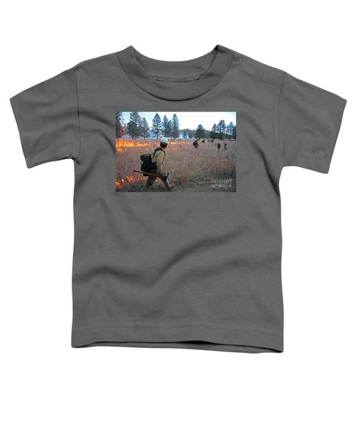 Alpine Hotshots Ignite Norbeck Prescribed Fire Toddler T-Shirt