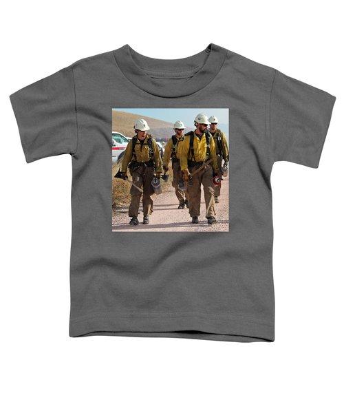 Alpine Hotshots Prepare To Ignite Cold Brook Prescribed Fire Toddler T-Shirt