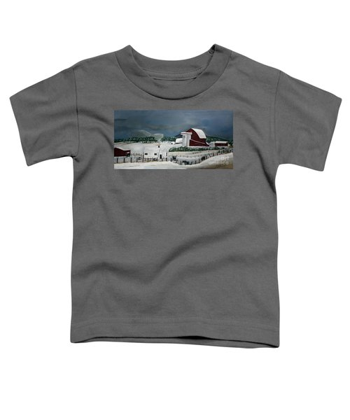 Amish Farm - Winter - Michigan Toddler T-Shirt
