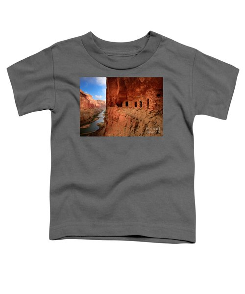 Anasazi Granaries Toddler T-Shirt by Inge Johnsson