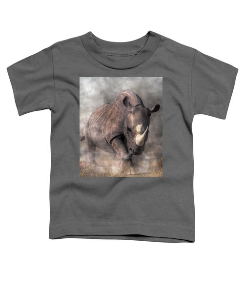 Angry Rhino Toddler T-Shirt