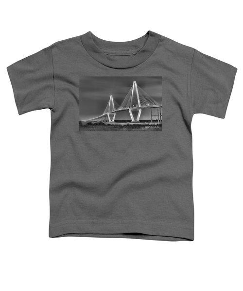 Arthur Ravenel Jr. Bridge In Black And White Toddler T-Shirt