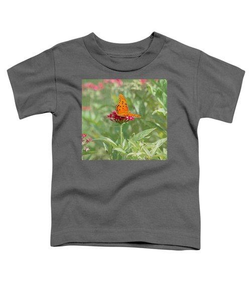 At Rest - Gulf Fritillary Butterfly Toddler T-Shirt