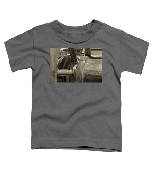 At The Helm Black And White Sepia Toddler T-Shirt
