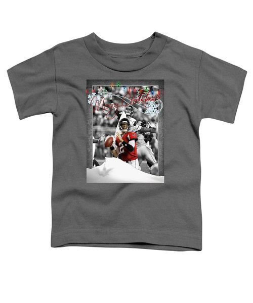 Atlanta Falcons Christmas Card Toddler T-Shirt