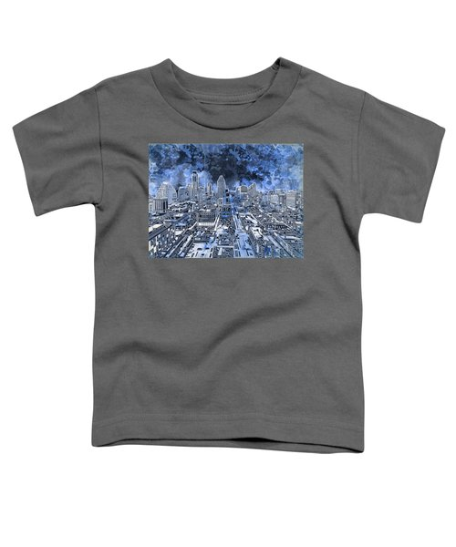 Austin Texas Abstract Panorama 5 Toddler T-Shirt by Bekim Art