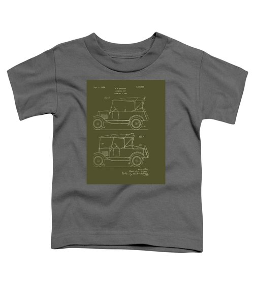 Automobile Body Patent 1924 Toddler T-Shirt