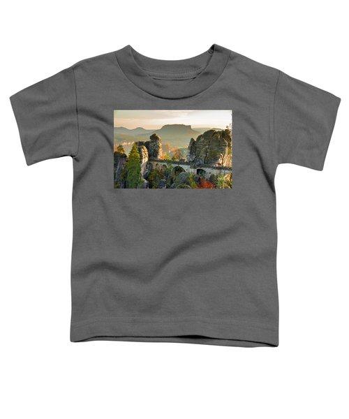 Autumn Afternoon On The Bastei Bridge Toddler T-Shirt