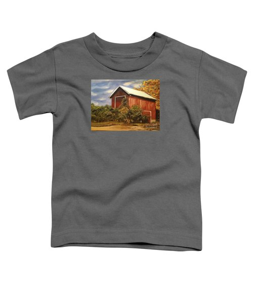 Autumn - Barn - Ohio Toddler T-Shirt