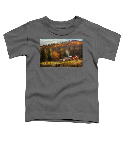 Autumn - Barn - The End Of A Season Toddler T-Shirt