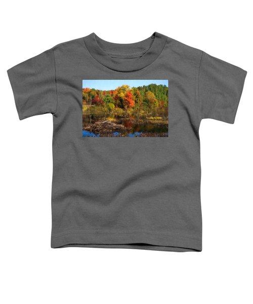 Autumn Beaver Pond Reflections Toddler T-Shirt
