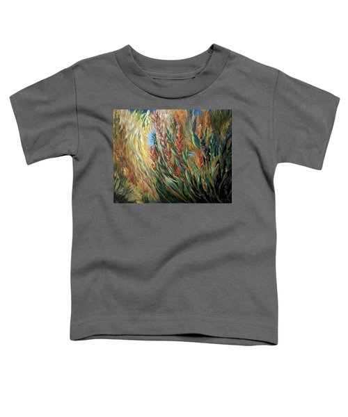 Toddler T-Shirt featuring the painting Autumn Bloom by Joanne Smoley