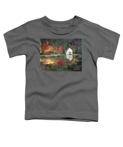 Autumn - Lake - Reflecton Toddler T-Shirt