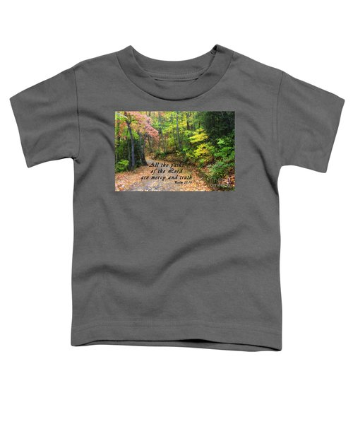 Autumn Path With Scripture Toddler T-Shirt