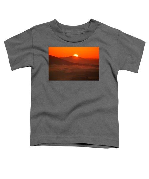 Autumn Sunrise On The Lilienstein Toddler T-Shirt