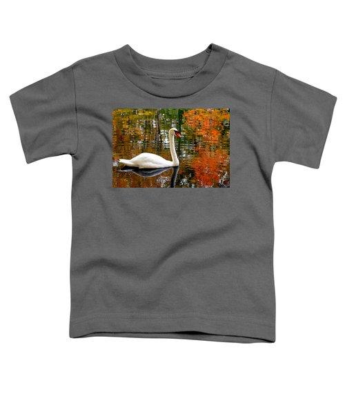Autumn Swan Toddler T-Shirt