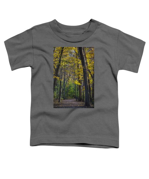 Toddler T-Shirt featuring the photograph Autumn Trees Alley by Sebastian Musial