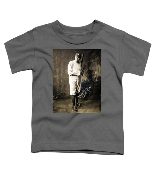 Babe Ruth 1920 Toddler T-Shirt by Mountain Dreams