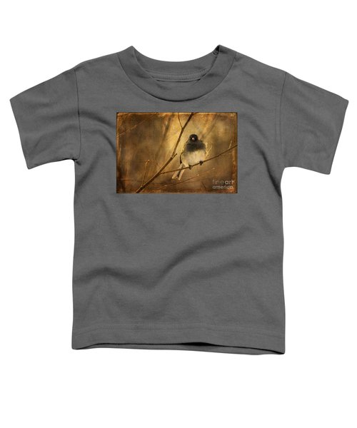 Backlit Birdie Being Buffeted  Toddler T-Shirt