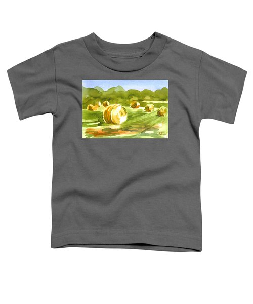 Bales In The Morning Sun Toddler T-Shirt