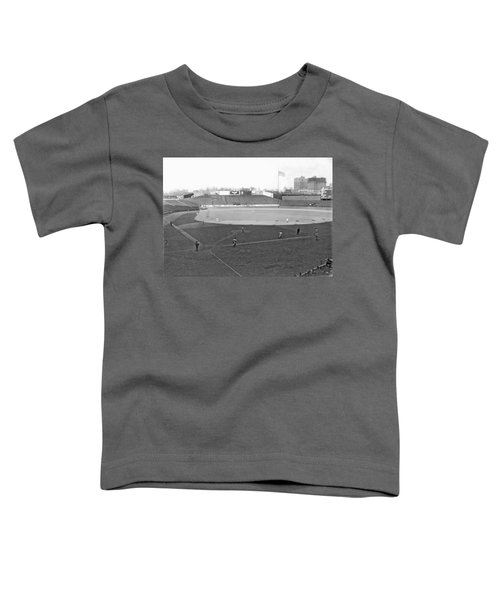 Baseball At Yankee Stadium Toddler T-Shirt by Underwood Archives