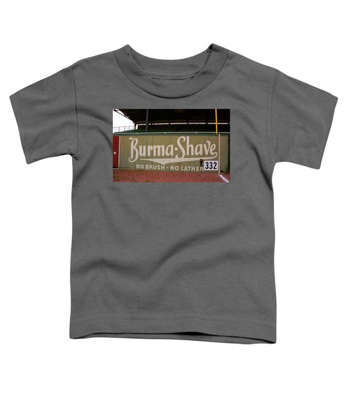 Baseball Field Burma Shave Sign Toddler T-Shirt