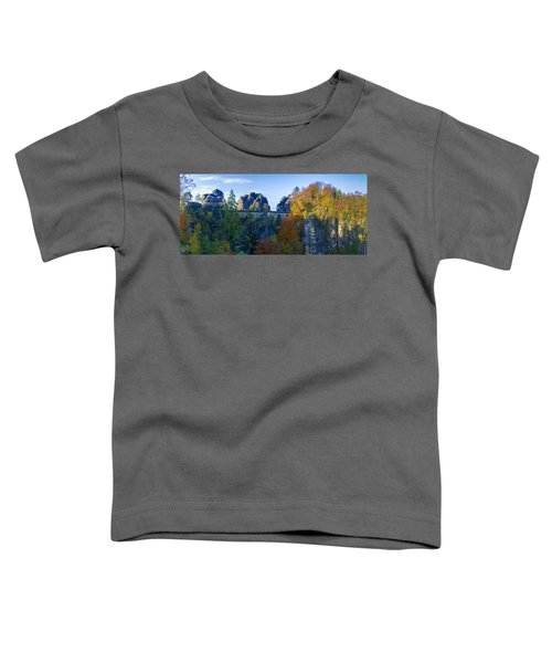 Bastei Bridge In The Elbe Sandstone Mountains Toddler T-Shirt
