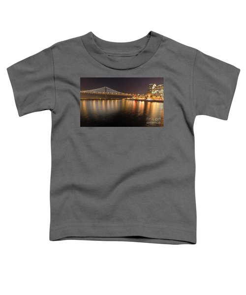 Bay Bridge Lights And City Toddler T-Shirt