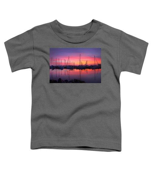 Bayfield Wisconsin Magical Morning Sunrise Toddler T-Shirt