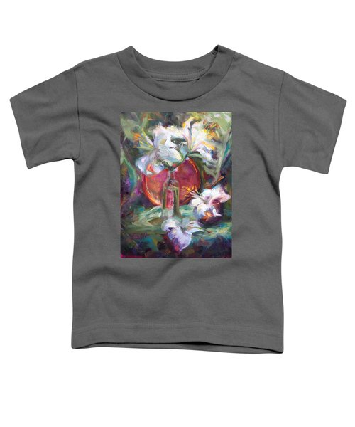 Be Still - Casablanca Lilies With Copper Toddler T-Shirt