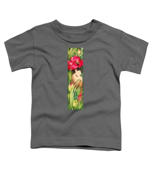 Behind The Curtain Of Colours -the Tulip Toddler T-Shirt