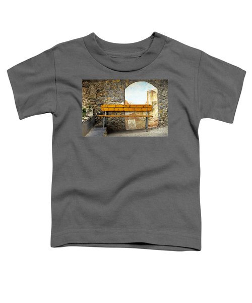Bench In Riomaggiore Toddler T-Shirt
