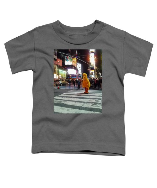 Big Bird On Times Square Toddler T-Shirt
