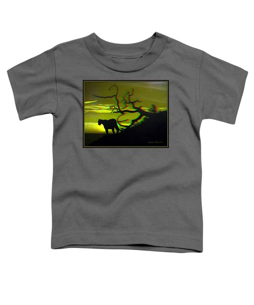 Big Cat Silhouette -  Use Red-cyan 3d Glasses Toddler T-Shirt