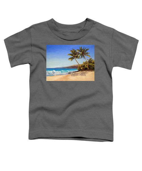 Hawaiian Beach Seascape - Big Island Getaway  Toddler T-Shirt