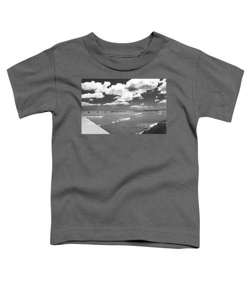 Big Lake Clouds Black White Toddler T-Shirt