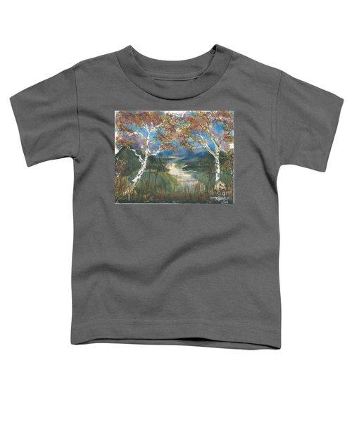 Birch Trees On The Ridge  Toddler T-Shirt