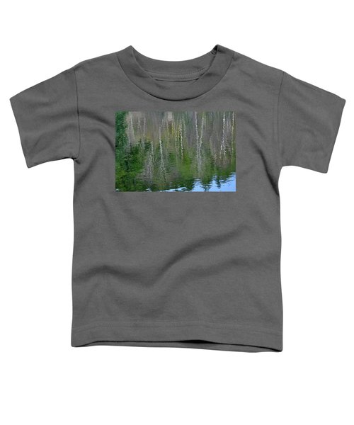 Birch Trees Reflected In Pond Toddler T-Shirt