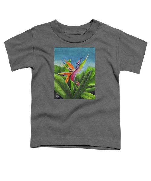 Hawaiian Bird Of Paradise Toddler T-Shirt