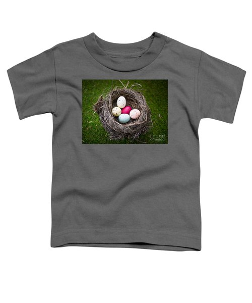 Bird's Nest With Easter Eggs Toddler T-Shirt